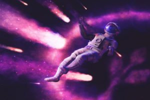 astronaut, Ultra wide, Space, Space art, Science fiction