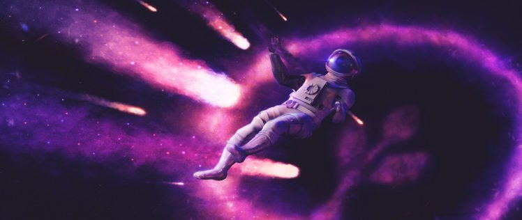 Astronaut Ultra Wide Space Art Science Fiction HD Wallpaper Desktop Background