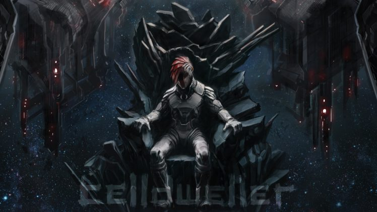 Klayton, Robot, Throne, Space, Science fiction, End of an