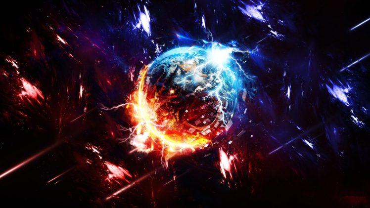 space, Planet, Destruction HD Wallpaper Desktop Background