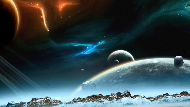 Space Planet Art Digital HD Wallpaper Desktop Background