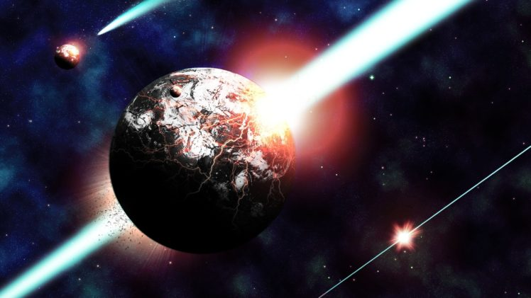 space, Planet, Destruction, Space art, Apocalyptic HD Wallpaper Desktop Background