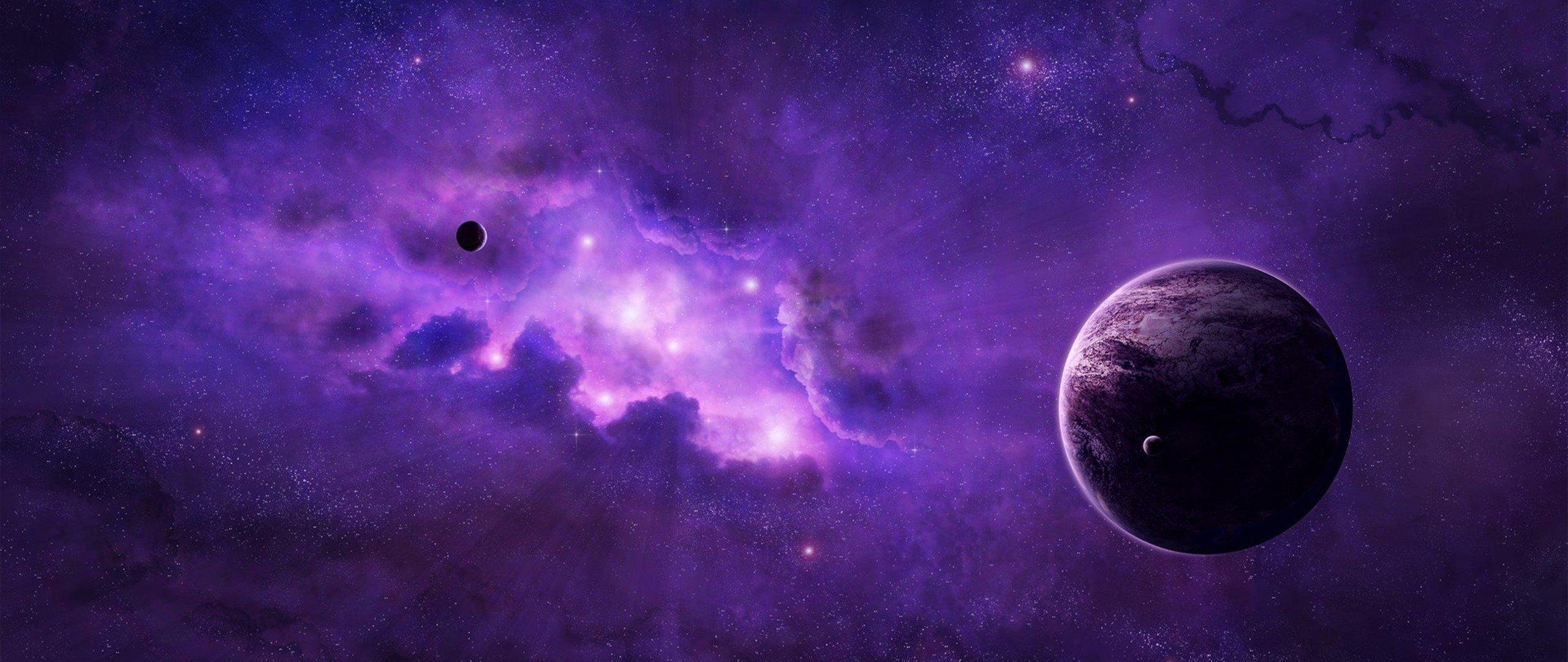 Ultra wide space hd wallpapers desktop and mobile - Purple space wallpaper ...
