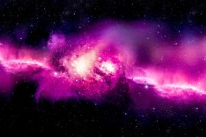 Andromeda, Spiral galaxy, Space, Space art