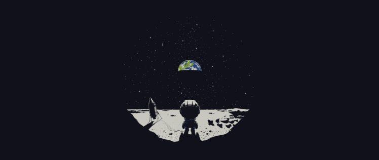 Earth, Ultra wide, Moon, Kerbal Space Program HD Wallpaper Desktop Background