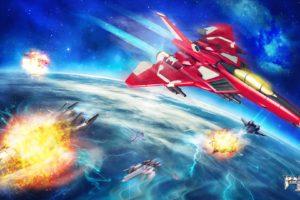 Raiden III, Ship, Spaceship, Space, Planet, War, Jet fighter, Video games