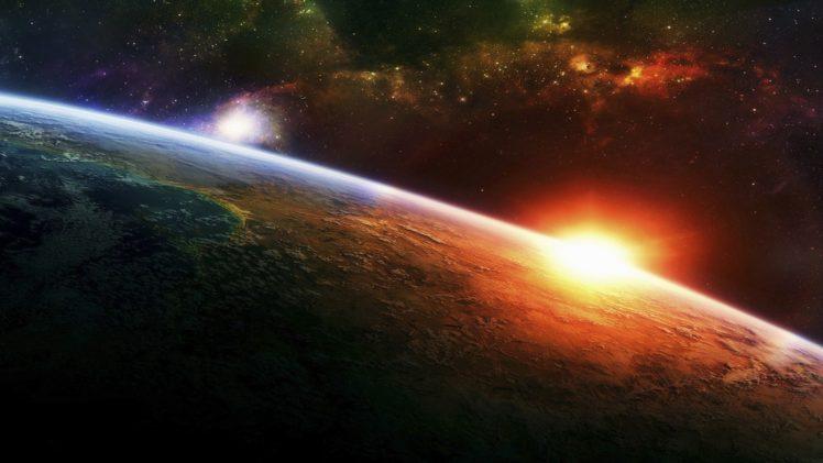 space, Planet, Sun, Stars HD Wallpaper Desktop Background