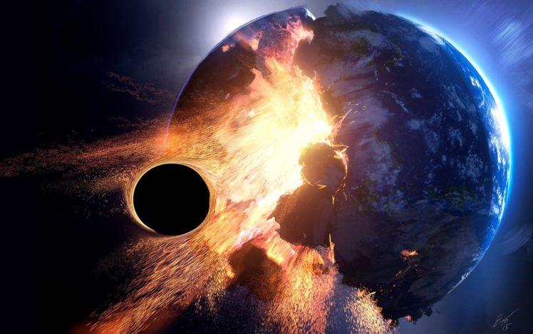 3D, Space, Planet, Destruction HD Wallpaper Desktop Background