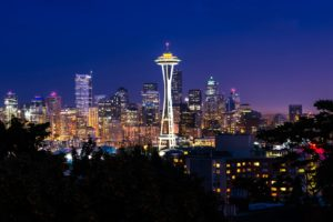 city, Seattle, Space Needle