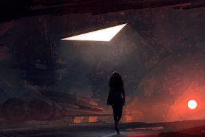 Kuldar Leement, Science fiction, Space, Spaceship, Sun