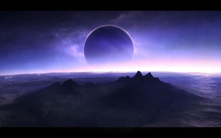 space, Planet, Moon, Stars HD Wallpaper Desktop Background