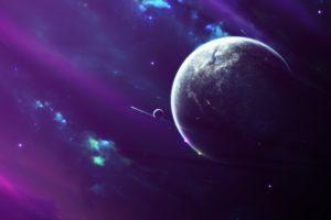 space, Moon, Nebula
