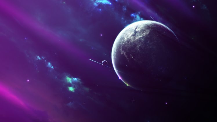 space, Moon, Nebula HD Wallpaper Desktop Background