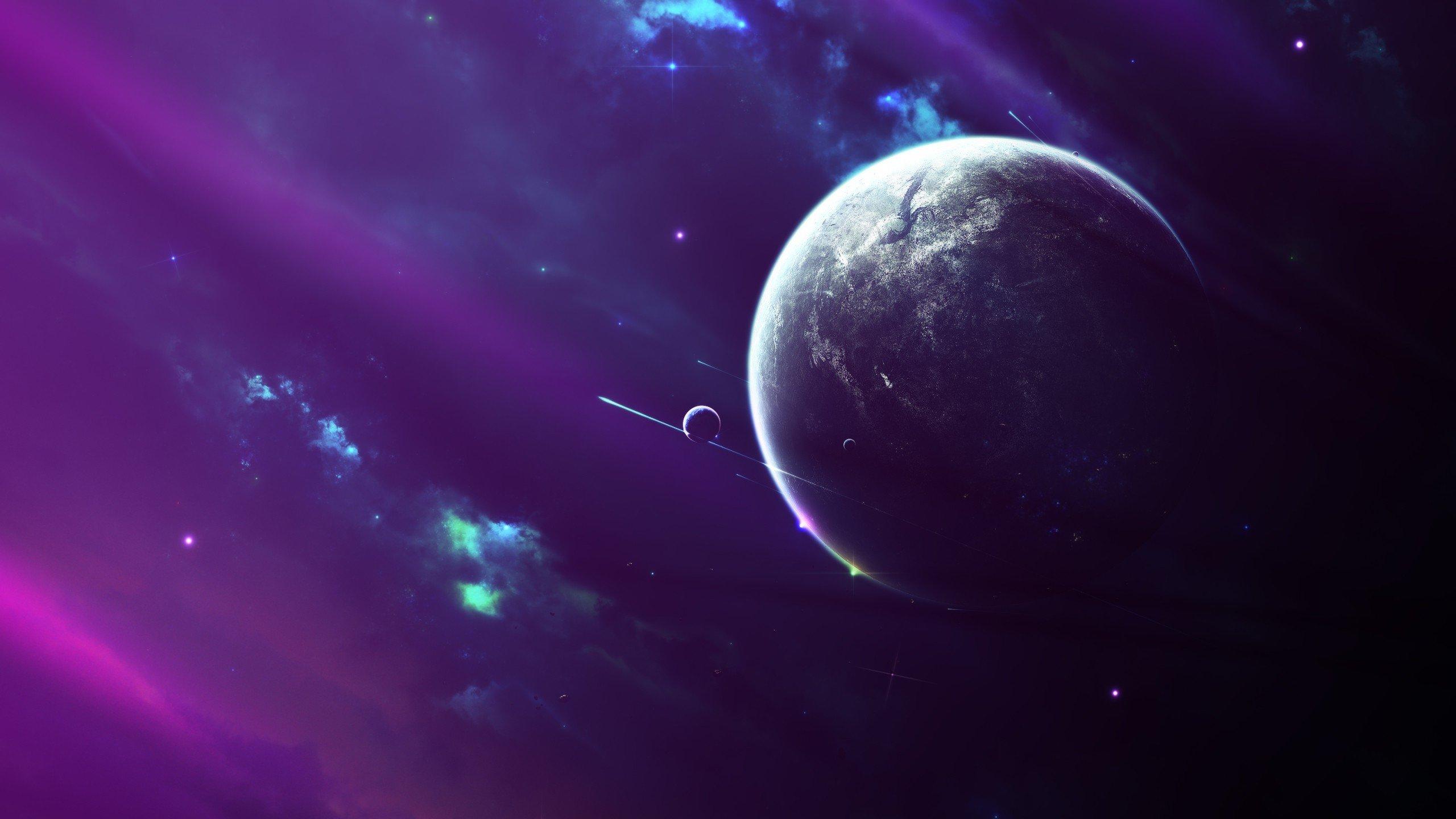 space, Moon, Nebula Wallpaper
