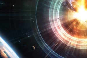 space, Render, 3D, Planet, Explosion