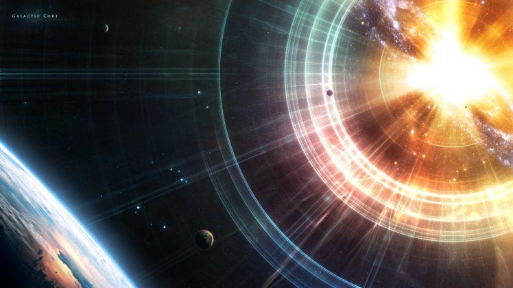 space, Render, 3D, Planet, Explosion HD Wallpaper Desktop Background