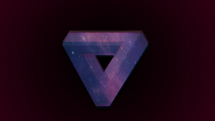 triangle, Space, Penrose triangle, 3D HD Wallpapers