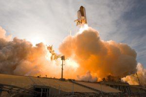 NASA, Spaceship, Smoke, Space shuttle