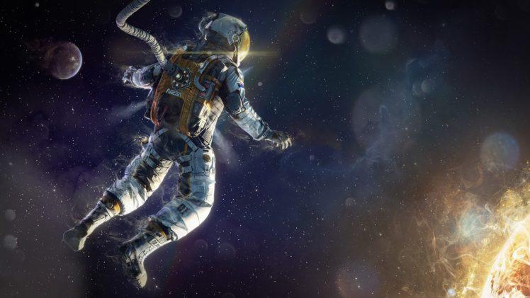 astronaut, Space, Sun HD Wallpaper Desktop Background