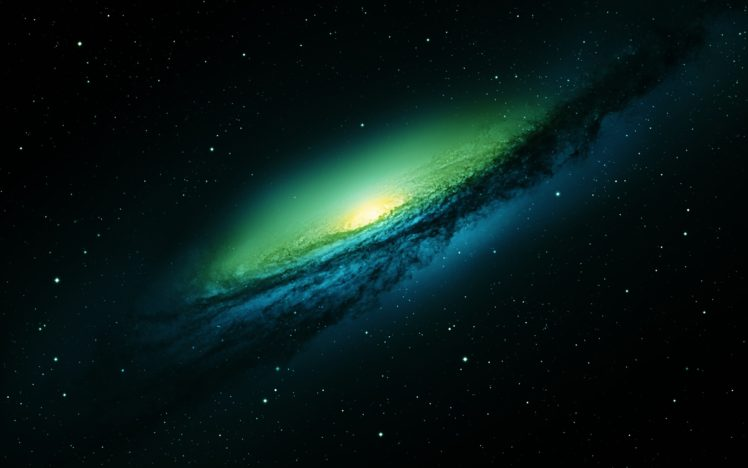 Green Stars Galaxy Space Hd Wallpapers Desktop And