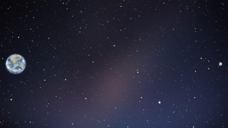 Earth, Space, Stars, Moon HD Wallpaper Desktop Background