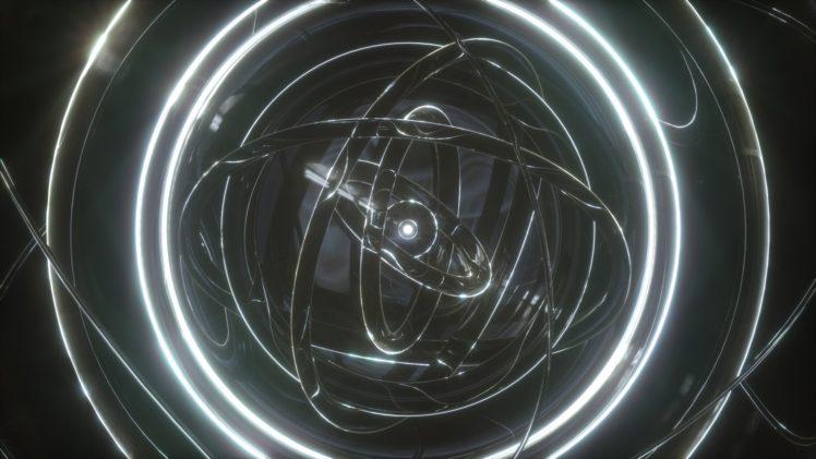 time, Space, Orb, Lights, Reflection, Render, OctaneRender by OTOY HD Wallpaper Desktop Background
