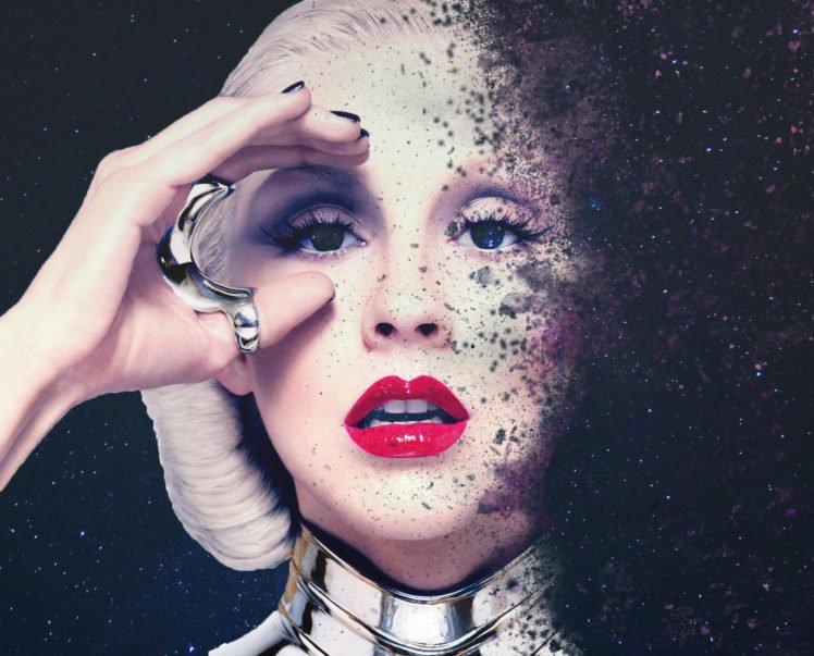 blonde, Platinum blonde, Christina Aguilera, Space HD Wallpaper Desktop Background