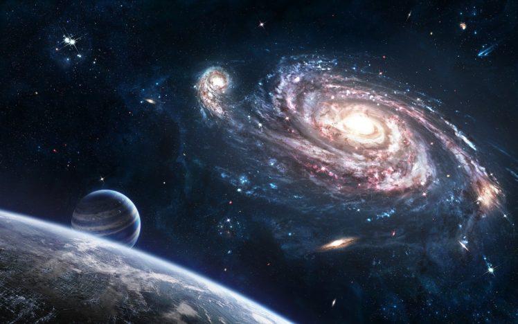 space, Space art, Stars, Planet, Nebula, Galaxy HD Wallpaper Desktop Background