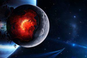nebula, Galaxy, Space art, Spaceship, Meteors, Texture, Planet, Stars