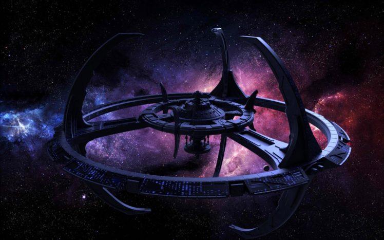 stars, Space, Planet, Galaxy, Star Trek, Star Trek: Deep Space 9, Space station HD Wallpaper Desktop Background