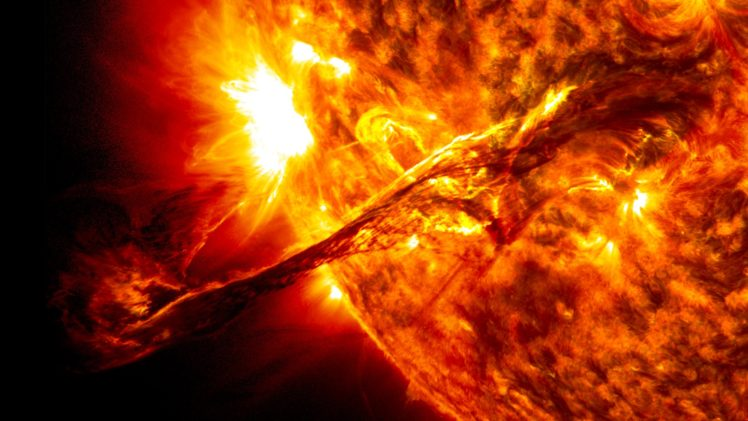 stars, Space, Planet, Galaxy, Solar flare HD Wallpaper Desktop Background