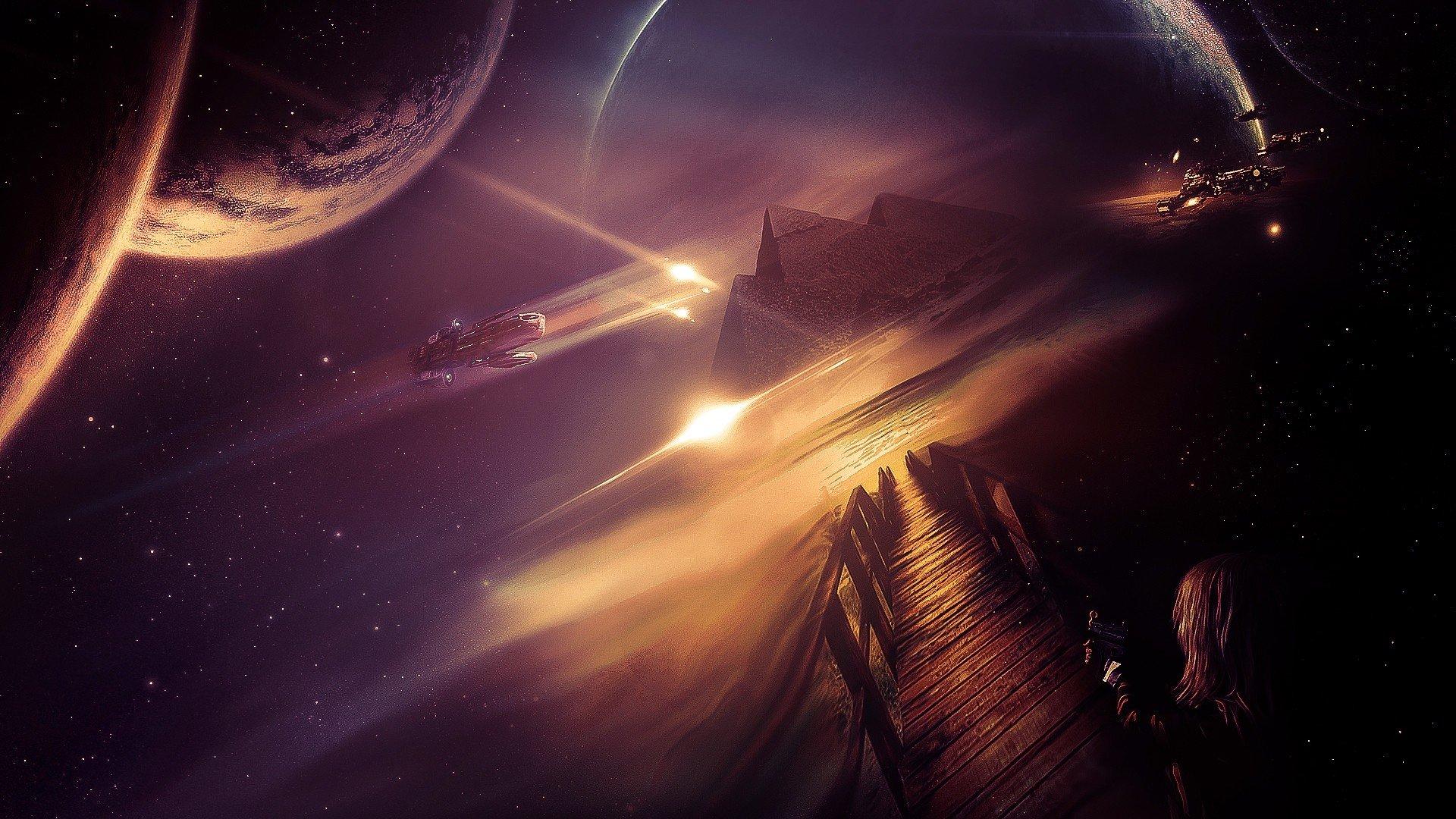 stars, Space, Planet, Galaxy Wallpaper