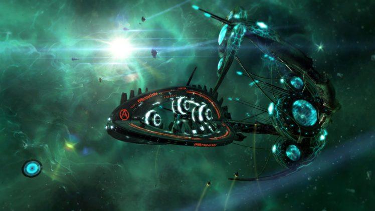 Starpoint Gemini 2, Video games, Science fiction, Space station, Spaceship, Nebula, Digital art, Satellite HD Wallpaper Desktop Background
