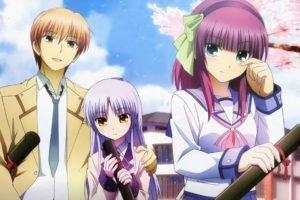 Angel Beats!, Nakamura Yuri, Tachibana Kanade, School uniform, Otonashi Yuzuru