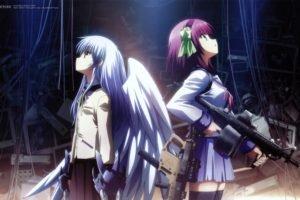 Angel Beats!, Nakamura Yuri, Tachibana Kanade, School uniform, Wings