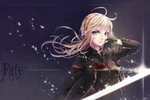 anime, Anime girls, Fate Zero, Fate Series, Saber, Blonde
