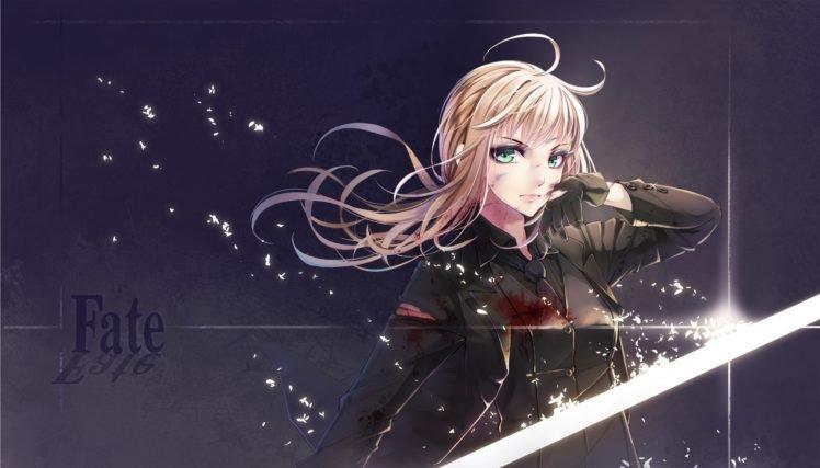 anime, Anime girls, Fate Zero, Fate Series, Saber, Blonde HD Wallpaper Desktop Background