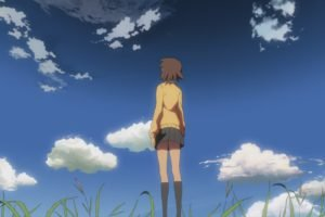 5 Centimeters Per Second, Makoto Shinkai, Clouds, Anime girls