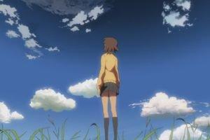 5 Centimeters Per Second, Makoto Shinkai, Clouds, Anime girls