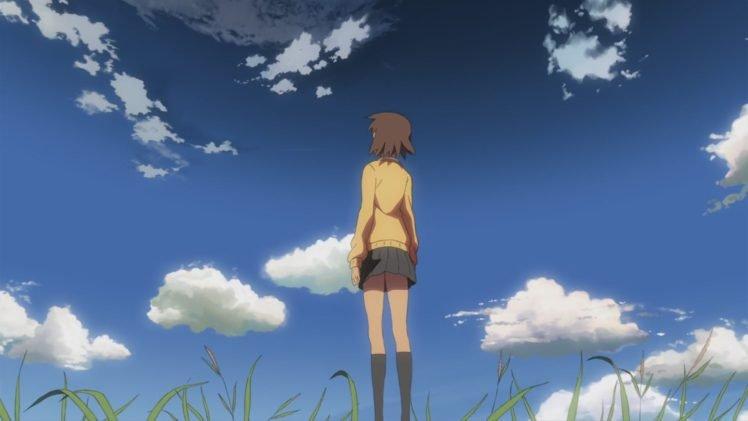 5 Centimeters Per Second, Makoto Shinkai, Clouds, Anime girls HD Wallpaper Desktop Background