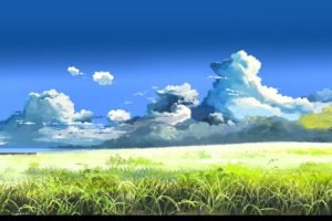 5 Centimeters Per Second, Makoto Shinkai, Field, Clouds