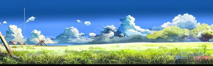 5 Centimeters Per Second, Makoto Shinkai, Field, Clouds HD Wallpaper Desktop Background