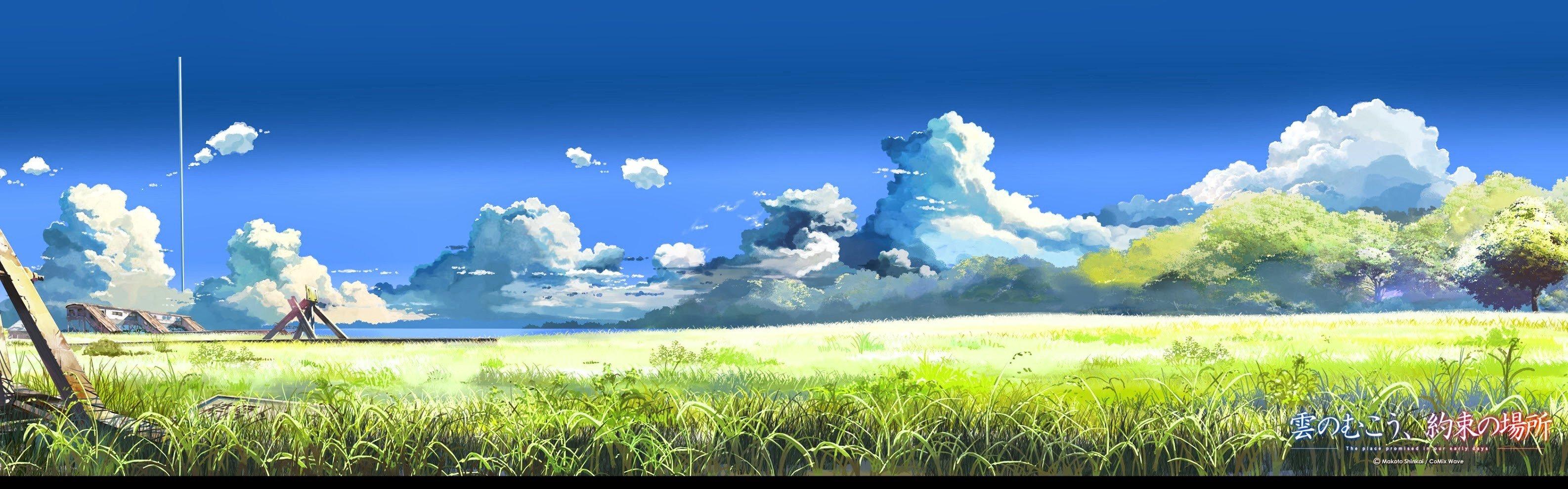 5 Centimeters Per Second Makoto Shinkai Field Clouds Sky