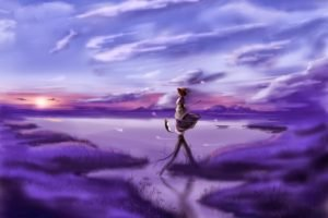 anime girls, Artwork, Touhou, Onozuka Komachi