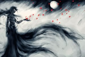 Bleach, Kurosaki Ichigo, Flower petals, NanFe, Fan art, Mugetsu, Petals, Bandage