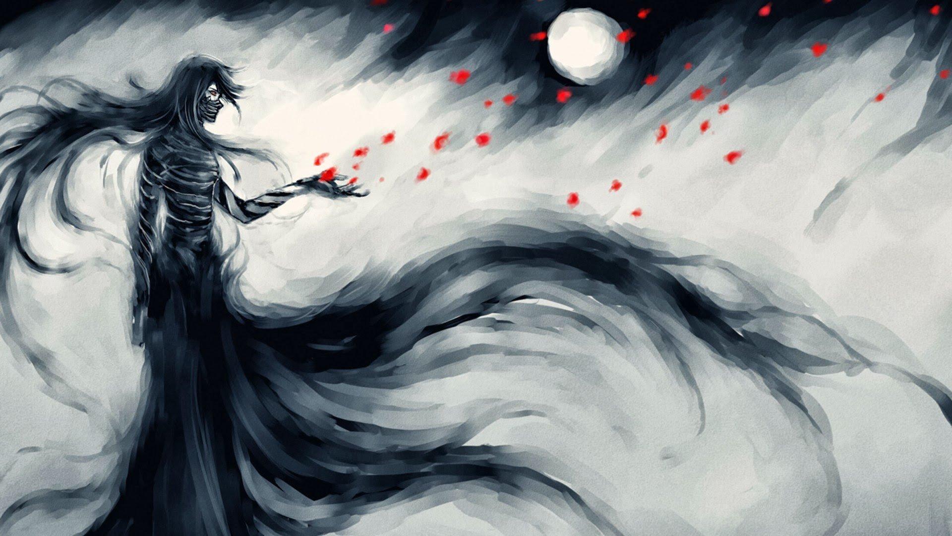 Bleach, Kurosaki Ichigo, Flower petals, NanFe, Fan art, Mugetsu, Petals, Bandage Wallpaper