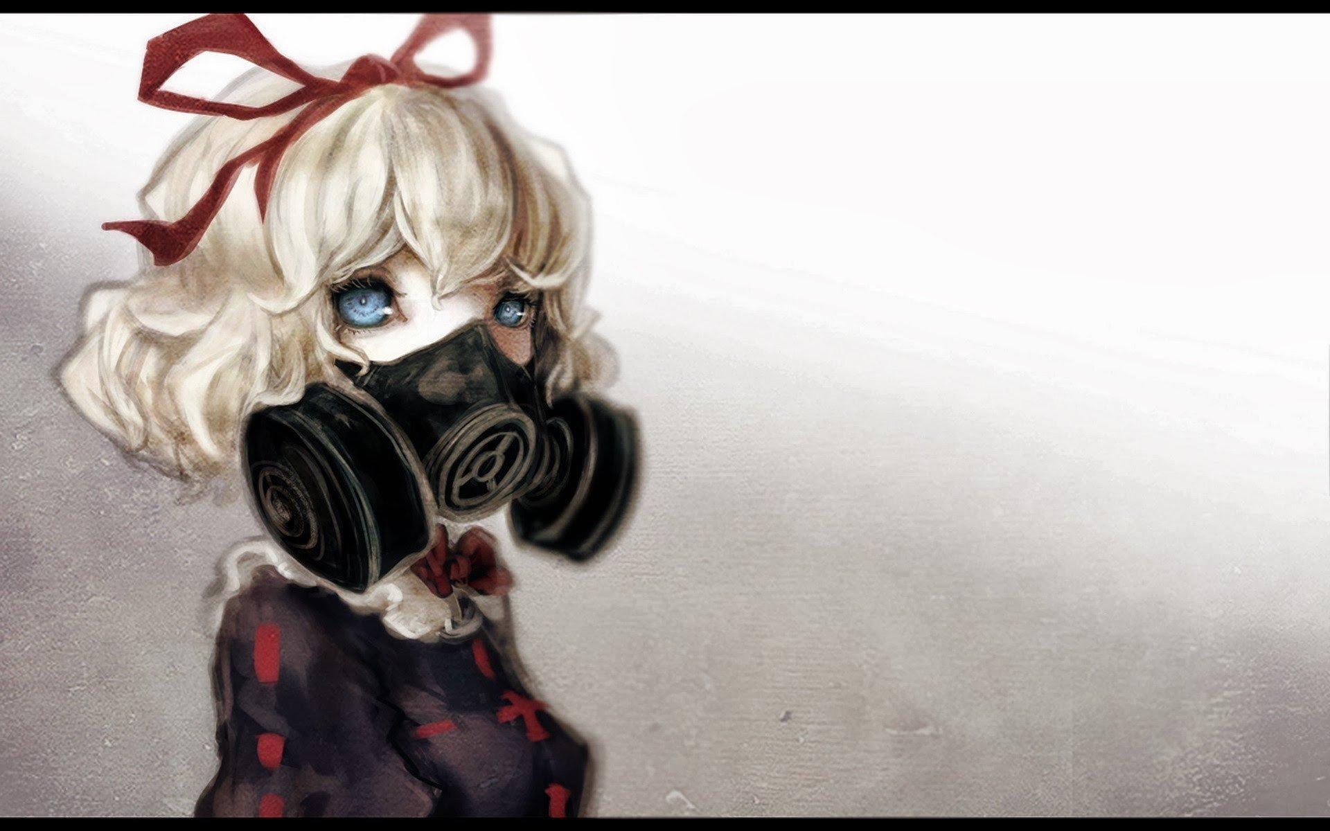 fantasy art, Gas masks Wallpaper