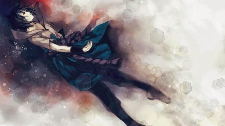 Naruto Shippuuden, Uchiha Sasuke, Anime boys, Hexagon HD Wallpaper Desktop Background