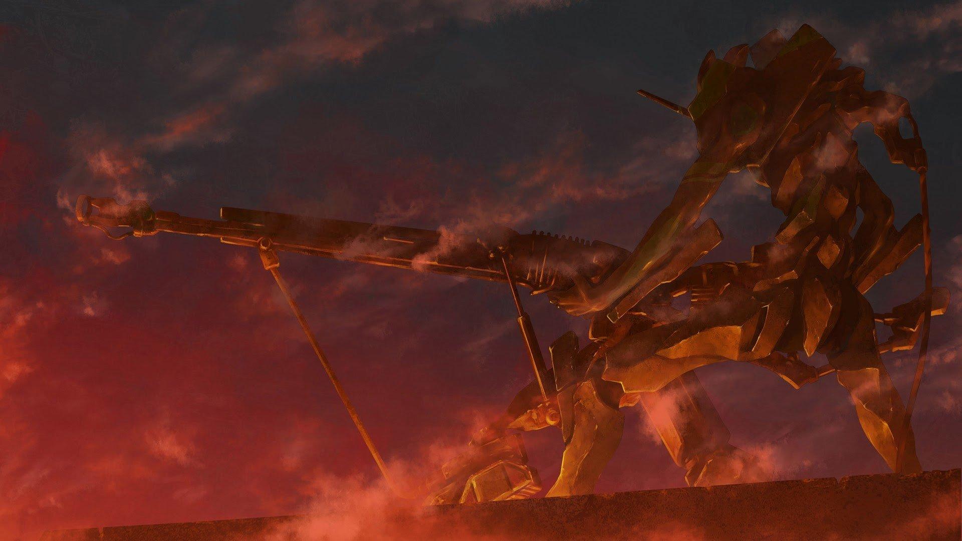 Neon Genesis Evangelion Eva Unit 01 Anime Hd Wallpapers
