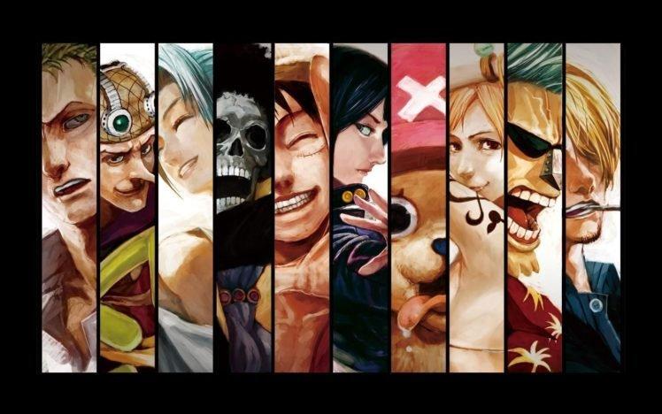 One Piece, Panels, Roronoa Zoro, Usopp, Brook, Monkey D. Luffy, Nico Robin, Tony Tony Chopper, Nami, Sanji, Franky HD Wallpaper Desktop Background